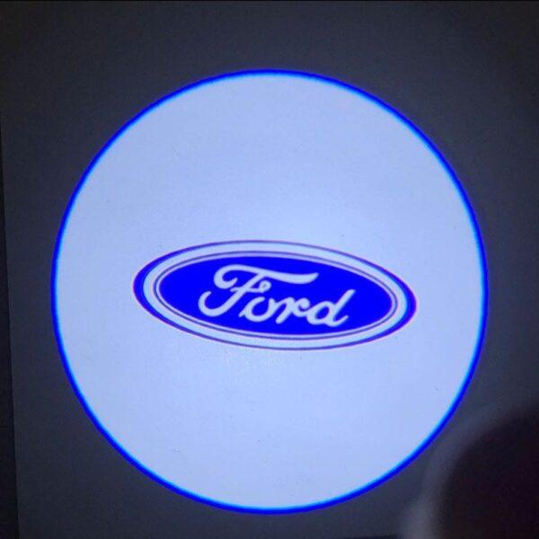 ford logo door lights