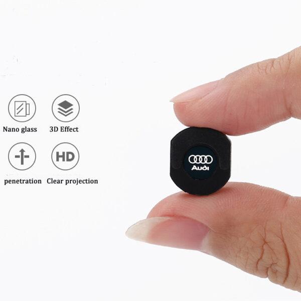 Audi logo projector lights