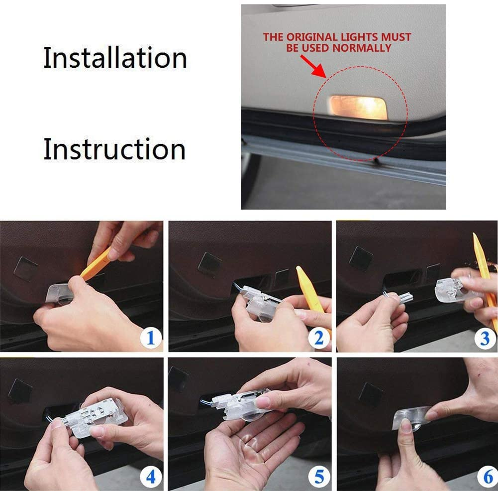 car door lights installation instruction