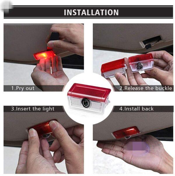 ben door lights installation