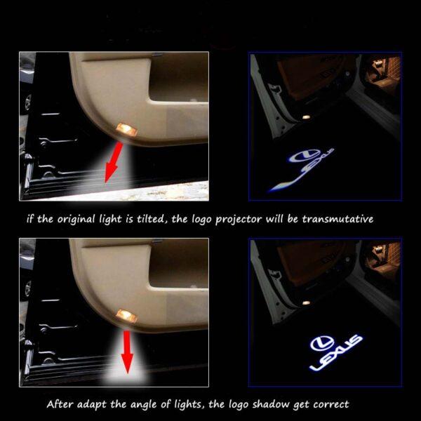 lexus logo door light
