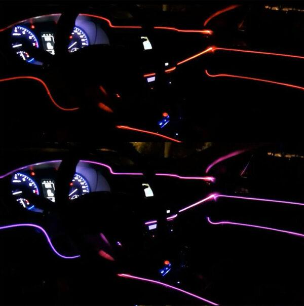 neon car interior