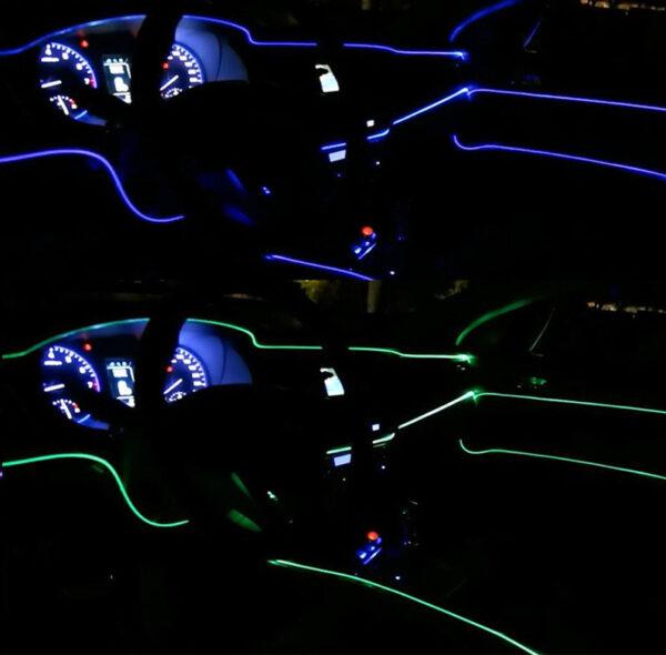 neon inside car