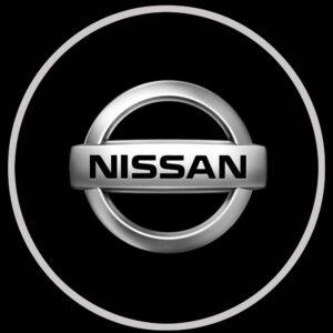 nissan logo door light