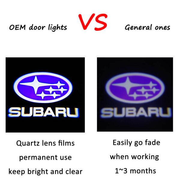 subaru logo puddle lights