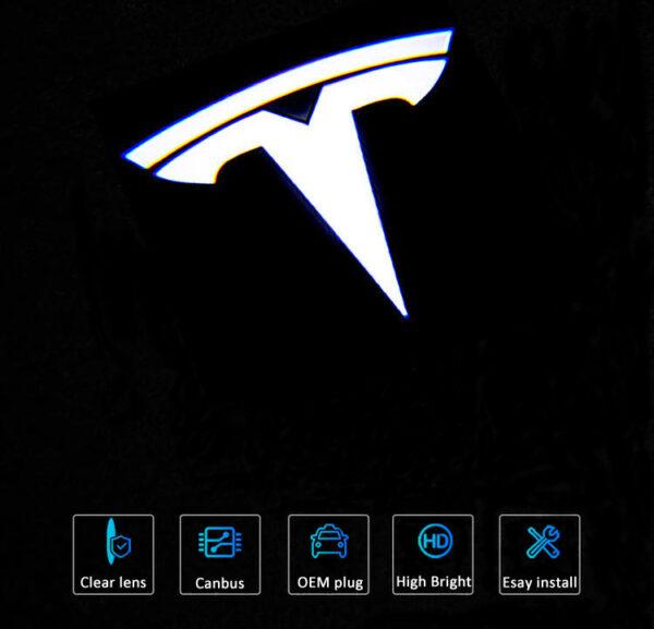 Tesla model 3 puddle lights