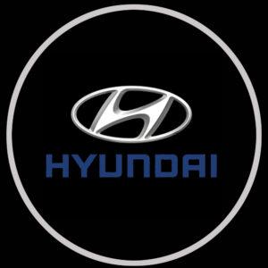hyundai door logo light