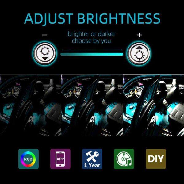 diy ambient lighting car